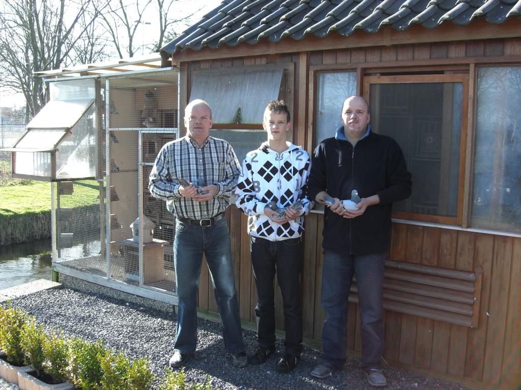 De nieuwe combinatie Gebr. Kwast en Zoon, met van links naar rechts : Pollie, Mark en Peter